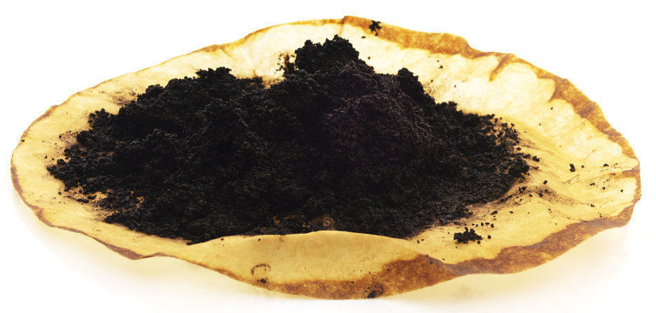 sources about coffee grounds in the garden