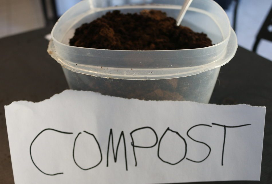 how to add coffee grounds to compost