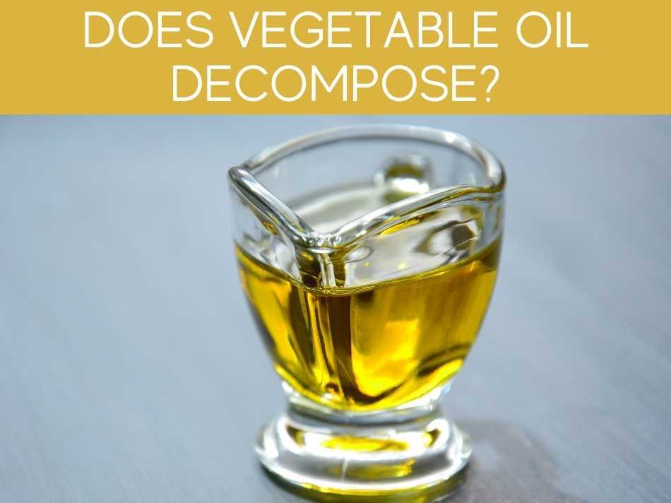 Does Vegetable Oil Decompose?
